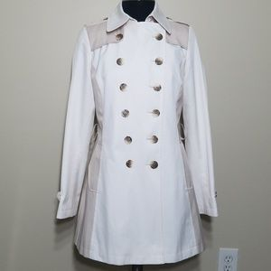 DKNY Two Tone Double Breasted Spring Trench Coat S